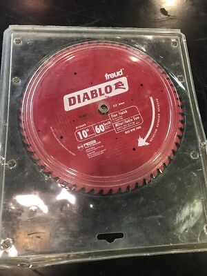 "Diablo D1060X 10"" x 60 Tooth Fine Finish Blade New"