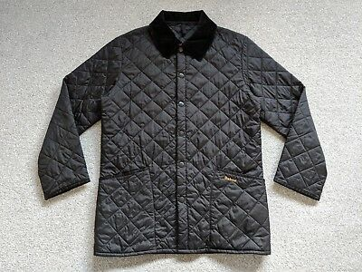 Barbour Men's Quilted Liddesdale (D364) Navy Blue Jacket - Size Small