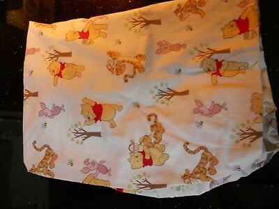 Disney ~ Winnie The Pooh Fitted  Crib Sheet featuring Pooh Piglet Tigger