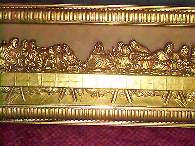 VINTAGE HOME INTERIORS Jesus The Last Supper Picture framed Gilt ...