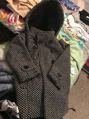 Toddler girls lined peacoat with houndstooth design by Old Navy size 2T