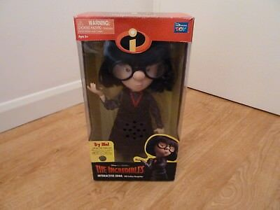 Disney PIXAR The Incredibles Edna interactive Talking Doll Fashion Recognition