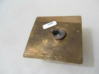 Vintage Brass Light Switch Square Plate Art Deco Antique Old England - homemade