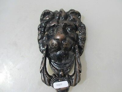 Victorian Brass Lion Head Door Knocker Lions Architectural Antique Old Vintage