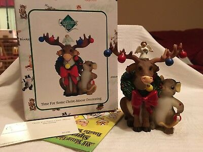 """Charming Tails """"TIME FOR SOME CHRIST MOOSE DECORATING""""  DEAN GRIFF NIB CHRISTMAS"""