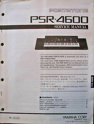yamaha psr 4600 portatone keyboard original service manual rh picclick com Owner's Manual Service Station