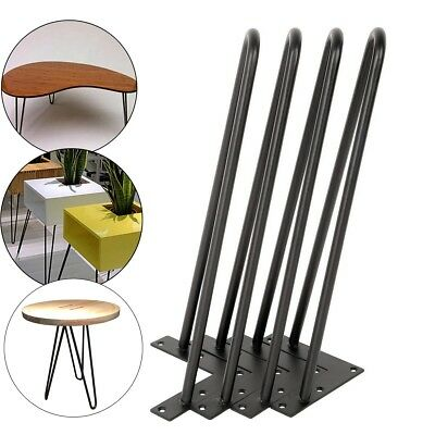 16 Table Chair Hairpin Legs Set Of 4 1 2 Metal Solid Iron Bar