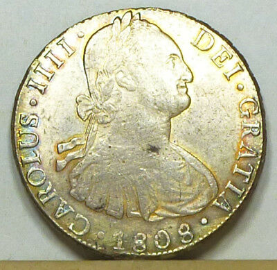 Bolivia 8 Reales 1808 EF/Almost Uncirculated NO RESERVE