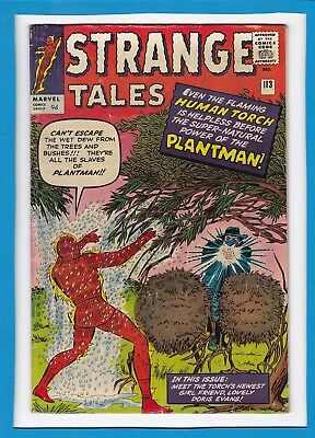 "Strange Tales #113_September 1963_Fine_""the Coming Of The Plantman""_Uk Variant!"