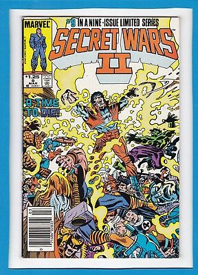 """Secret Wars Ii #9_March 1986_Vf_""""a Time To Die""""_Double Size_9 Of 9_Ltd Series!"""