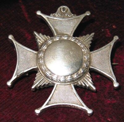 Victorian Solid Silver Brooch Maltese Cross c1890 Quality 20.0 grams Antique