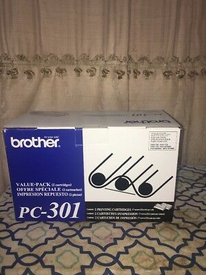 Brother PC-301 Printing Cartridge X1 New in Package, Original OEM Fax Ribbon New