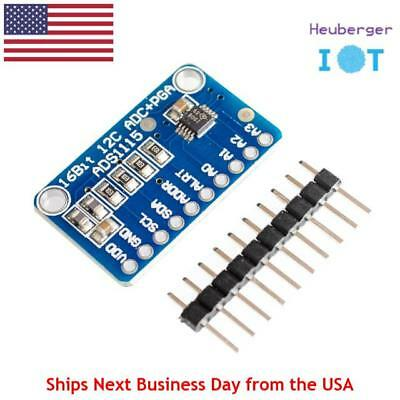 ADS1115 4 Channel 16 Bit I2C ADC Module Programmable Gain Amplifier for Arduino