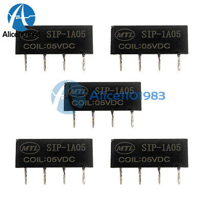 5PCS 5V Relay SIP-1A05 Reed Switch Relay for PAN CHANG Relay 4PIN New