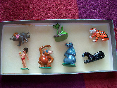 Disney Jungle Book Metal Collectable 7 figures - RARE