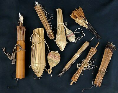 Maku Jivaro Yagua Tribe Columbia Peru Blowgun Darts Containers Quivers Amazon