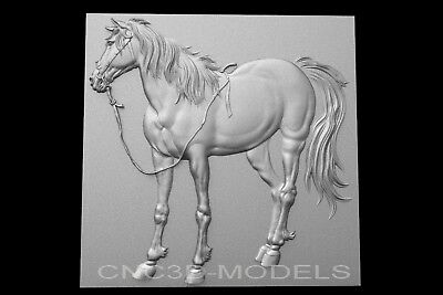 3D Model STL for CNC Router Carving Artcam Aspire Horse Pano Animal g649