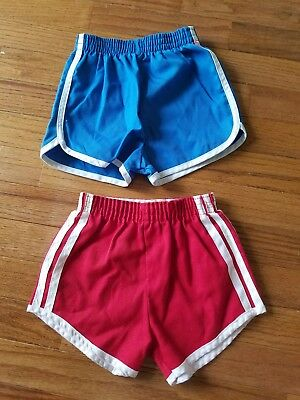 Lot of 2 Vintage Boy Red Blue Shorts Size 4T