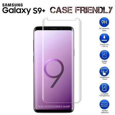 For Samsung Galaxy S9 Plus 5D Curved Tempered Glass LCD Screen Protector