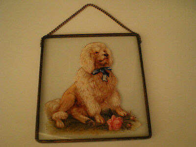 POODLE Under Leaded GLASS HANGING Dog HANGER Window Wall