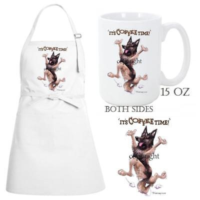 Belgian Tervuren Dog Breed Coffee Time Kitchen Chef Apron & Ceramic Mug Gift Set