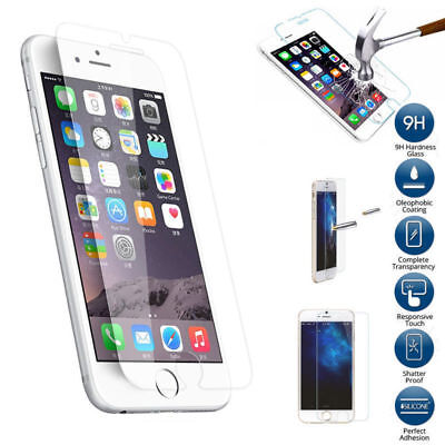 Premium Real Screen Protector Tempered Glass Film For iPhone 6 6S 7 8 X 11 Plus