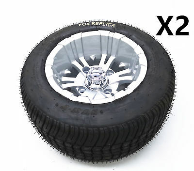 2X 205/50-10 10Inch Alloy Mag wheel 6PLY Tyre For Trailer Golf Kart Quad Project