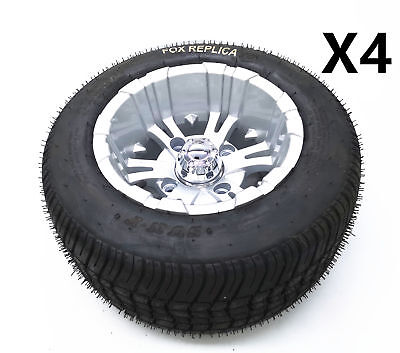 4X 205/50-10 10Inch Alloy Mag wheel 6PLY Tyre For Trailer Golf Kart Quad Project