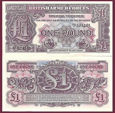 Gr. Britain P M22, 1 Pound, 1948, TDLR, 32d Series UNC for liberated countries