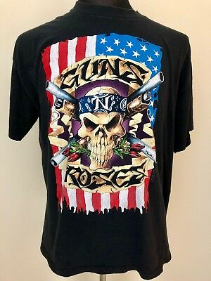 "*ORIGINAL* GUNS N' ROSES Concert T-shirt '91 '92 '93 ""Use Your Illusion"" - XL"