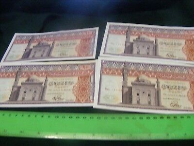 EGYPT..lot of 4  SCARCE  Large Size Banknotes.New  Uncirculated Condition
