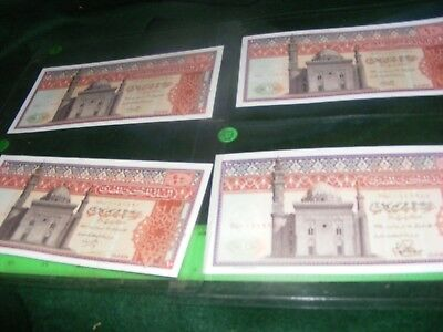 EGYPT..lot of 4  SCARCE  Large Size Banknotes Uncirculated Condition with pages.