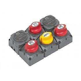 Bep Battery Distribution Cluster With Dvsr - Twin Outboard Three Battery Banks