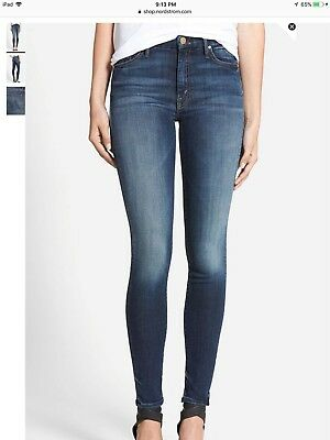 Mother High Waisted Looker Skinny Jeans Tempted Again Dark Wash 26