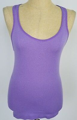 d1dc7c73e4a0fa Under Armour Heat Gear Womens Tank Top Size Small Purple Racerback Fitted