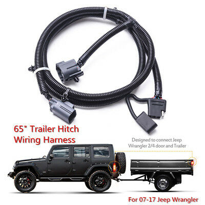 65 Trailer Tow Hitch Wiring Harness Kit 4 Way mictuning 65\