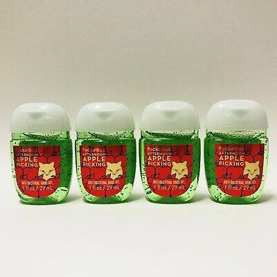 4 Bath & Body Works Afternoon pomme ramassant Pocketbac gel pour mains