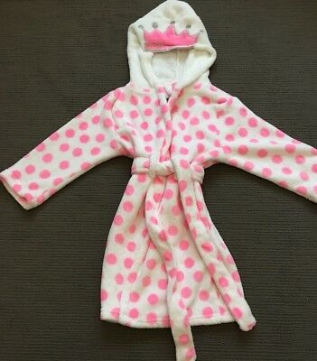 Cotton On Kids Girls Princess Dressing Gown - Size 3-4