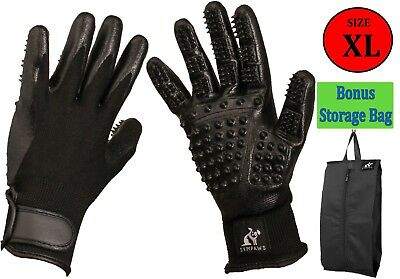 Pet Grooming Gloves for Shedding and Bathing. Cats, Dogs, Rabbit, Horses   XL
