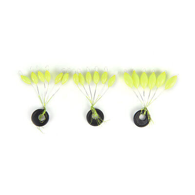 10set=50x single color 7-star oval mini fishing float space beans easy use