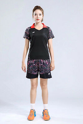 All England Open Competition Short Sleeve Women's Tops badminton T-Shirt+shorts