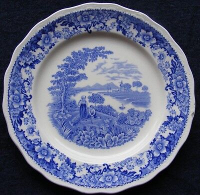 """Swinnertons Silverdale 8"""" Blue and White Plate - Please See Photos"""