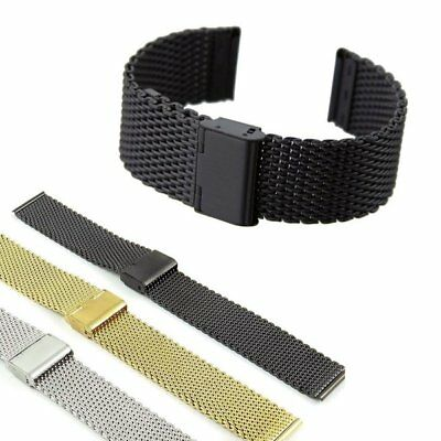 Stainless Steel Women Men Metal Watch Band Wrist Strap Bracelet 18 20 22 24mm UK