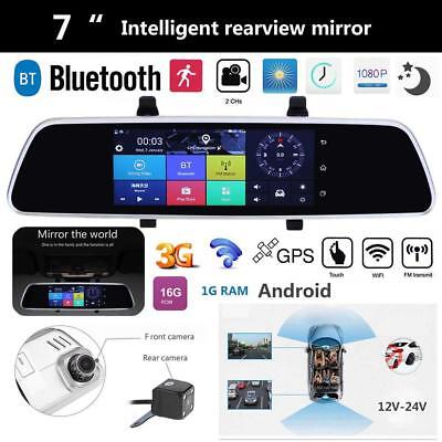 7'' HD Car Touch Screen Bluetooth Android 5.0 WIFI GPS Video Recorder Camera DVR