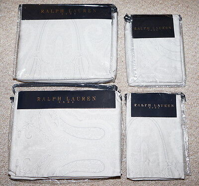 Bnwt Ralph Lauren Doncaster Rrp £175 Single Duvet Cover & Pillowcase Rrp £60