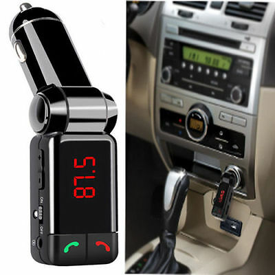 LCD Bluetooth Glamor FM Transmitter Car MP3 USB Charger Handsfree For iPhone