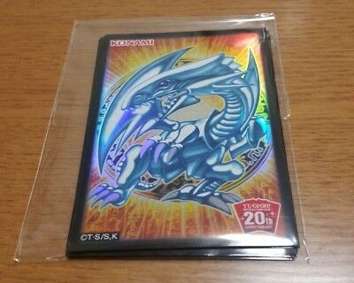 Yugioh Card Sleeve Protector  Blue-Eyes White Dragon  10pcs  20th Aniversary