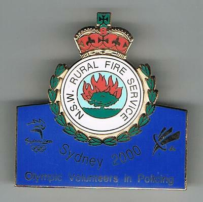 Sydney 2000 Olympic Nsw  Rural Fire Services Enamel Badge