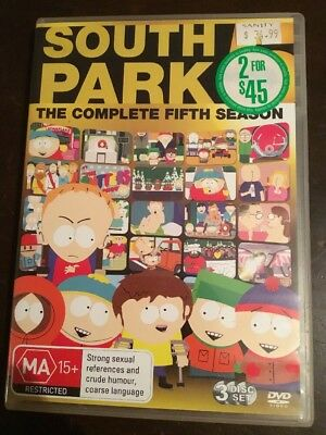 SOUTH  PARK The Complete Fifth Season 3 DVDs VGC R4