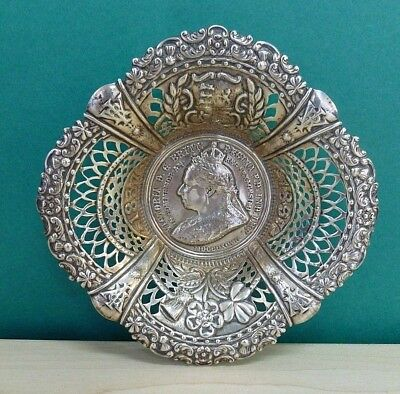 Antique Birmingham Silver Crisford & Norris 1896 Queen Victoria Coronation Bowl
